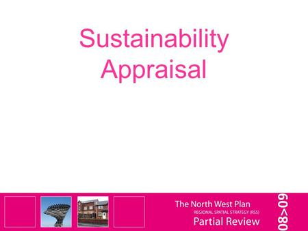 Sustainability Appraisal. SA process Stage A (Scoping) complete – Scoping Report consulted on from the 7 th April to 12 th May 2008) Stage B and C started.