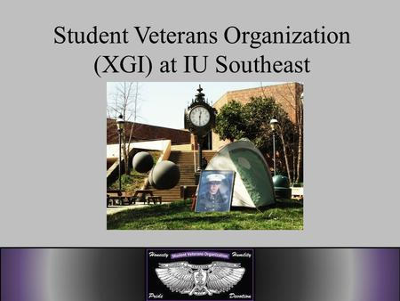 Student Veterans Organization (XGI) at IU Southeast.