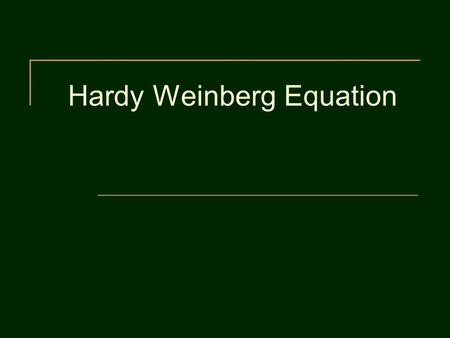 Hardy Weinberg Equation. Important Definitions What is a gene pool? What is an allele? What is a Punnett Square Describe heterozygous, homozygous recessive,