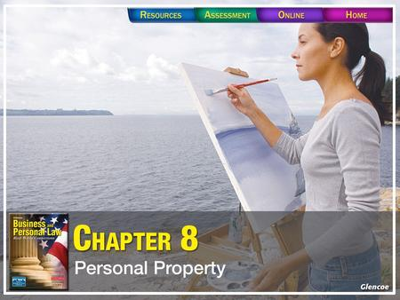 Section 8.1 Types of Property Section 8.1 Types of Property Personal property is anything that can be owned, other than real estate. Real estate, or.