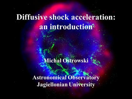 Diffusive shock acceleration: an introduction