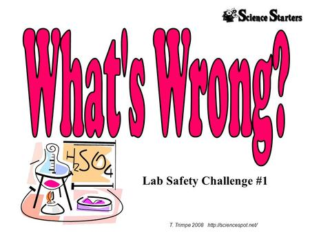 T. Trimpe 2008 http://sciencespot.net/ What's Wrong? Lab Safety Challenge #1 T. Trimpe 2008 http://sciencespot.net/