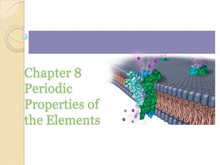 Chapter 8 Periodic Properties of the Elements. Electron Spin Experiment 2.