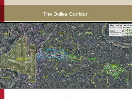 The Dulles Corridor 1. Wiehle Avenue 2 Joint development - Fairfax County and Comstock 3.5 acre Comstock parcel and 9.0 acre County parcel Mixed-use,
