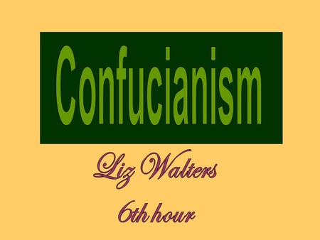 Confucianism was started in China around the time of 500 B.C. Being thought of as more of a philosophy than a religion Confucianism has influenced many.