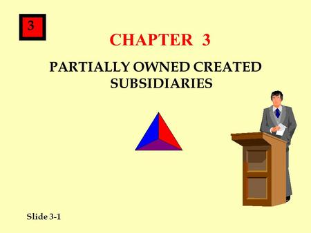 Slide 3-1 3 CHAPTER 3 PARTIALLY OWNED CREATED SUBSIDIARIES.