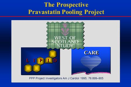 The Prospective Pravastatin Pooling Project L I P I D CARECARE PPP Project Investigators Am J Cardiol 1995; 76:899–905.