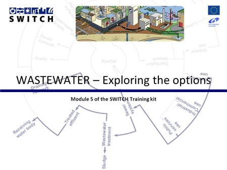 WASTEWATER – Exploring the options Module 5 of the SWITCH Training kit.