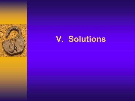 V. Solutions. 2 A solution is a homogeneous mixture of a solute dissolved in a solvent. The solubility of a solute in a given amount of solvent is dependent.