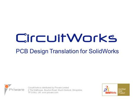 - Short presentation to give a general overview of CircuitWorks