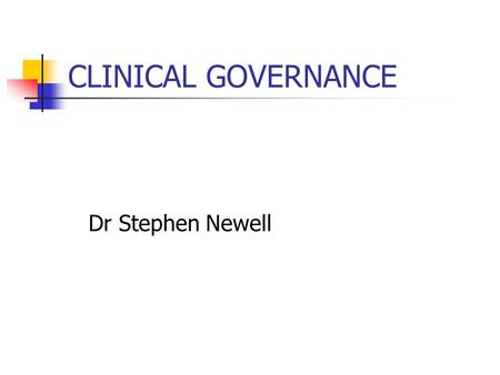 clinical governance overview Clinical governance is the system by which the governing body, managers, clinicians and staff share responsibility and accountability for the quality of care, continuously improving, minimising risks and fostering an environment of excellence in care for consumers.