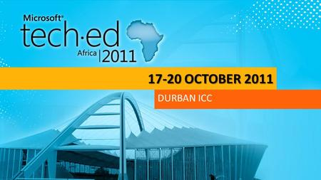 "17-20 OCTOBER 2011 DURBAN ICC. What code-database gap? Introducing Project Codename ""Juneau"" William"