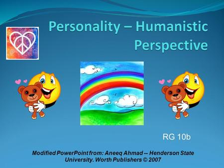 RG 10b Modified PowerPoint from: Aneeq Ahmad -- Henderson State University. Worth Publishers © 2007.