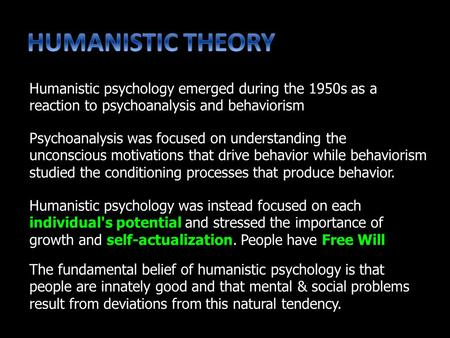 Psychoanalysis was focused on understanding the unconscious motivations that drive behavior while behaviorism studied the conditioning processes that produce.