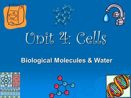 Biological Molecules & Water