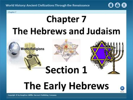 Chapter 7 The Hebrews and Judaism