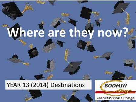 Tion Where are they now? YEAR 13 (2014) Destinations.