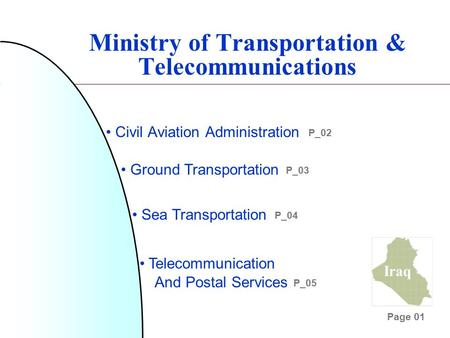 Ministry of Transportation & Telecommunications Civil Aviation Administration Ground Transportation Sea Transportation Telecommunication And Postal Services.