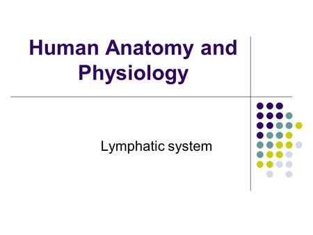 Human Anatomy and Physiology Lymphatic system. Components 1. Lymphatic vessels 'Mop up' fluid escaped from vasculature.