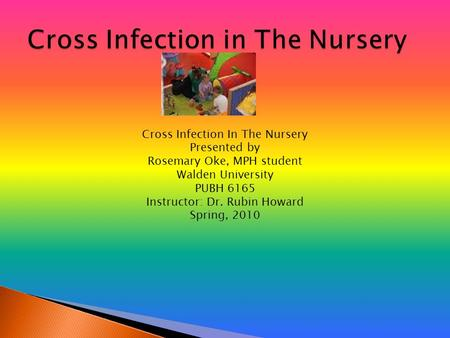 Cross Infection In The Nursery Presented by Rosemary Oke, MPH student Walden University PUBH 6165 Instructor: Dr. Rubin Howard Spring, 2010.
