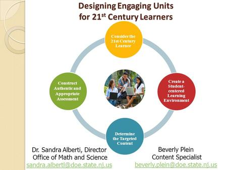 ENGAGING STUDENTS FOSTERING ACHIEVEMENT CULTIVATING 21st CENTURY GLOBAL SKILLS Designing Engaging Units for 21 st Century Learners Consider the 21st Century.
