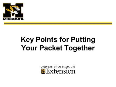Key Points for Putting Your Packet Together. Titles for Promotion System  Assistant Extension Professional  Associate Extension Professional  Extension.