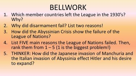 Why Did The League Of Nations Fail
