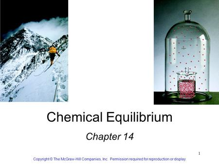 1 Chemical Equilibrium Chapter 14 Copyright © The McGraw-Hill Companies, Inc. Permission required for reproduction or display.