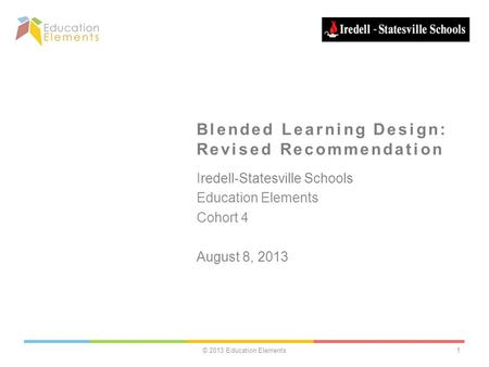Blended Learning Design: Revised Recommendation