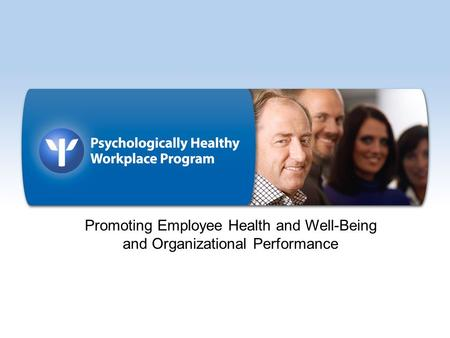 Promoting Employee Health and Well-Being