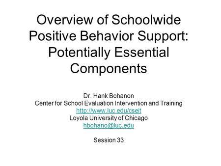 School-wide Behavior Supports in High Schools: What Works ...