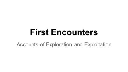 Accounts of Exploration and Exploitation