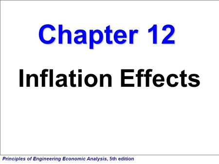 Chapter 12 Inflation Effects.