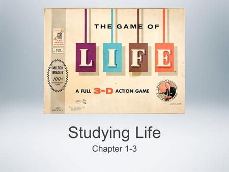 Studying Life Chapter 1-3. Living things All living things have Eight characteristics they MUST have in order be called a living organism.