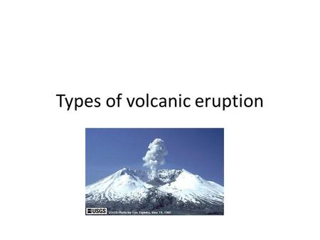 Types of volcanic eruption. 2 How do they form? This one is forming on a destructive plate As the oceanic crust slips beneath the continental plate, some.