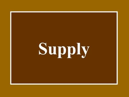 Supply Definitions Supply is the amount of a product that would be offered for sale at all possible prices in the market.