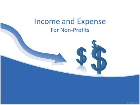 Income and Expense For Non-Profits. Income and Expense Known as Profit and Loss in a For Profit Business What can you tell from this spreadsheet?