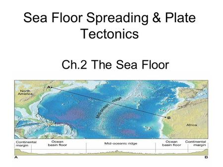 relationship between plate tectonic and sea floor spreading