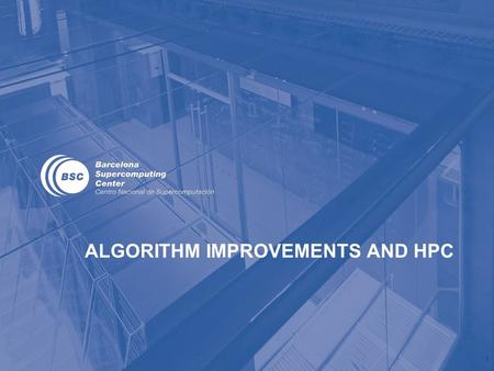 ALGORITHM IMPROVEMENTS AND HPC 1. Basic MD algorithm 1. Initialize atoms' status and the LJ potential table; set parameters controlling the simulation;