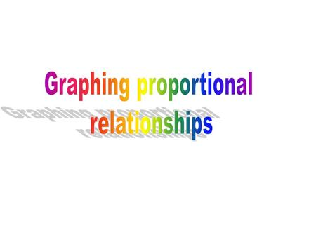 Proportional vs. Non-Proportional If two quantities are proportional, then they have a constant ratio. –To have a constant ratio means two quantities.