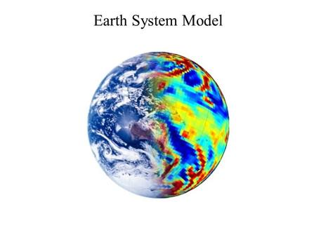 Earth System Model. Beyond the boundary A mathematical representation of the many processes that make up our climate. Requires: –Knowledge of the physical.