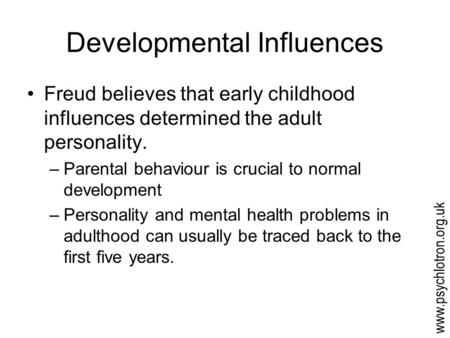 Developmental Influences