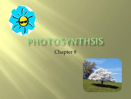 Chapter 8.  Energy is the ability to do work  All living organisms require energy  To be active (play sports)  Even while resting (cells require energy.