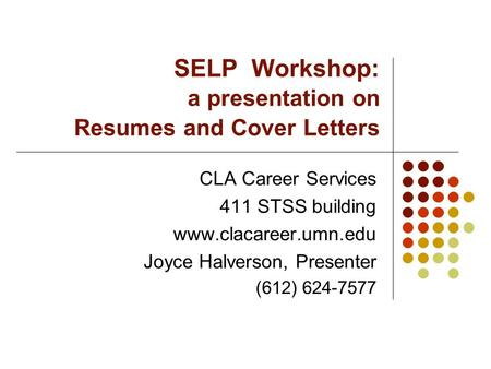 Cla Career Services Resume