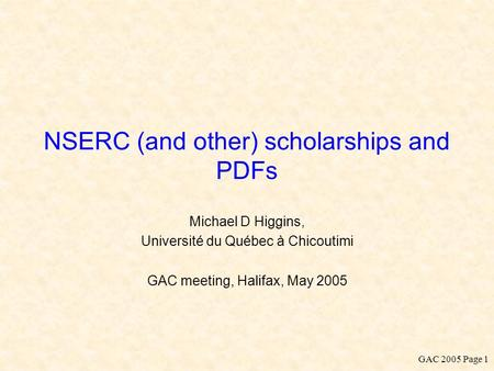 nserc summary of thesis