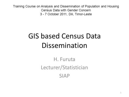 GIS based Census Data Dissemination