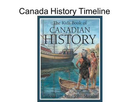 Canada History Timeline