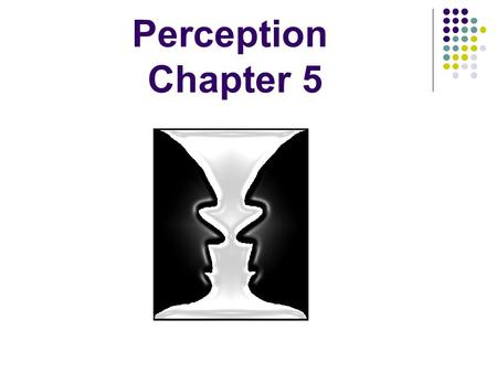 Perception Chapter 5. What is Perception? Organization of information to make it useful.