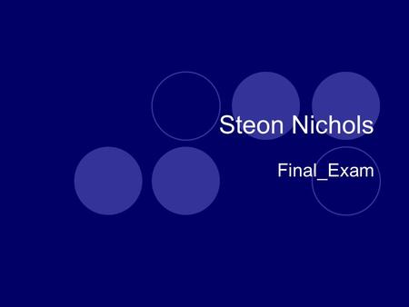 Steon Nichols Final_Exam. What is Computer Graphics? Computer graphics is a sub- field of computer science and is concerned with digitally synthesizing.