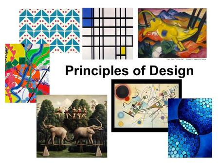 Principles of Design. Pattern The regular repetition of colors, lines, shapes, or forms in an artwork.